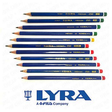LYRA ROBINSON ART PENCILS GRAPHITE DRAWING SKETCHING PENCILS [11 GRADE SET]